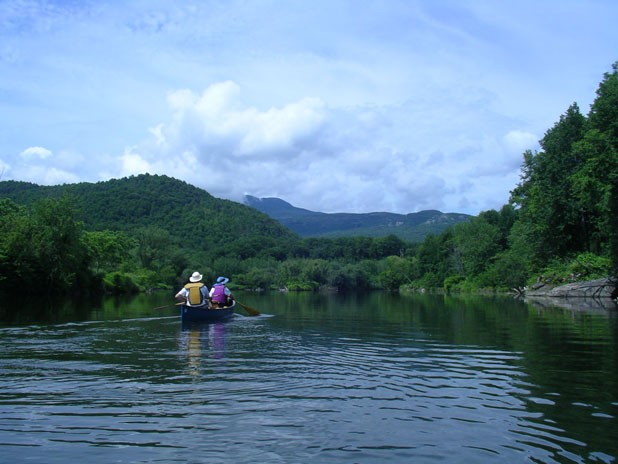Take a relaxing canoe trip on the Winooski River this Spring
