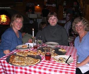 Girlfriends at American Flatbread for dinner Flatbread