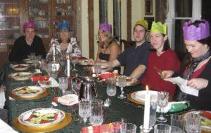 Enjoying Christmas dinner at West Hill House B&B