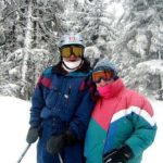 Vermont Innkeepers Peter & Susan MacLaren of West Hill House B&B in the snow