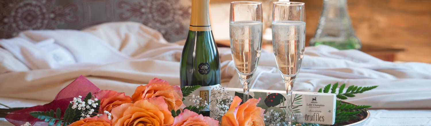 Champagne, roses and truffles
