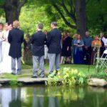Wedding by pond