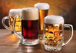 Full beer mugs.