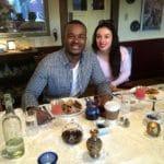 Christopher & Elana enjoy breakfast 7Apr2019
